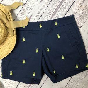 J.Crew chino/pineapple shorts